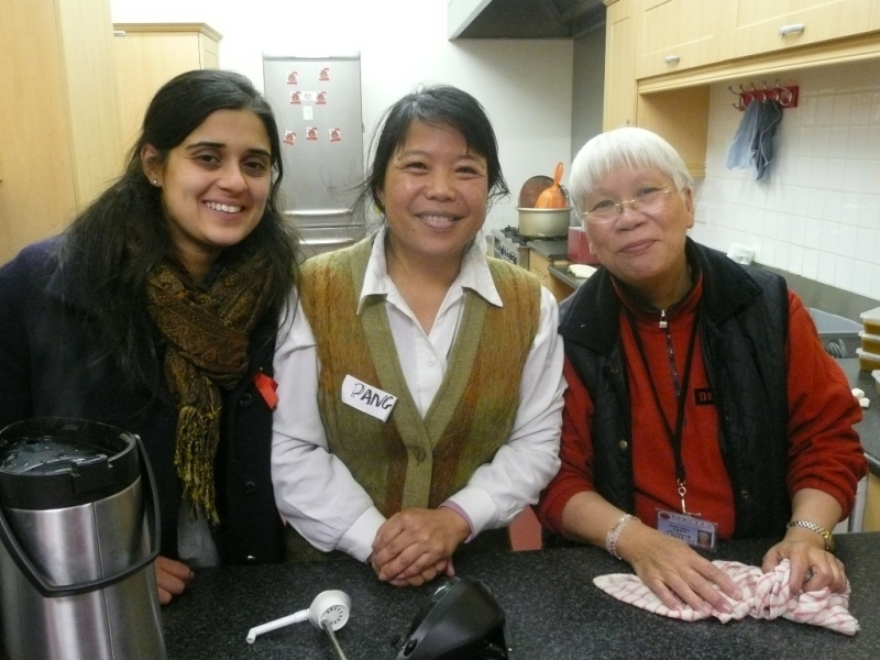 Three lovely ladies helping out at a BFC event - photo Stephanie Mitchell