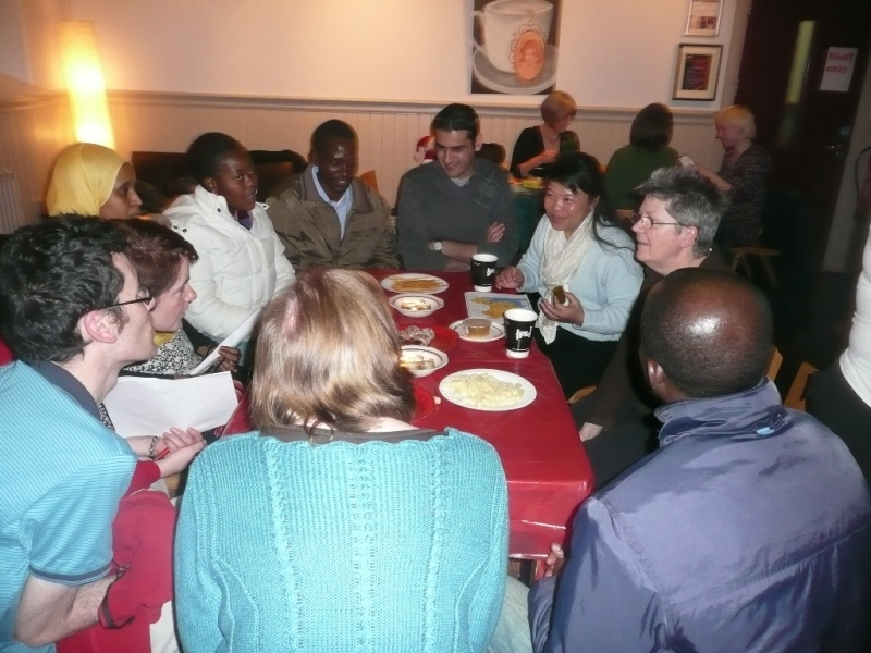 Round a table at a Thursday evening drop-in